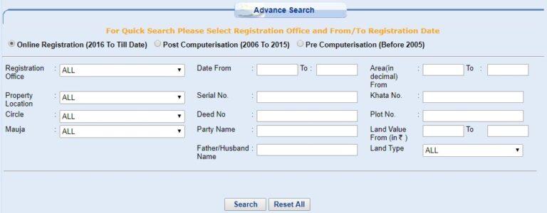 Property Land Registry Details Bihar