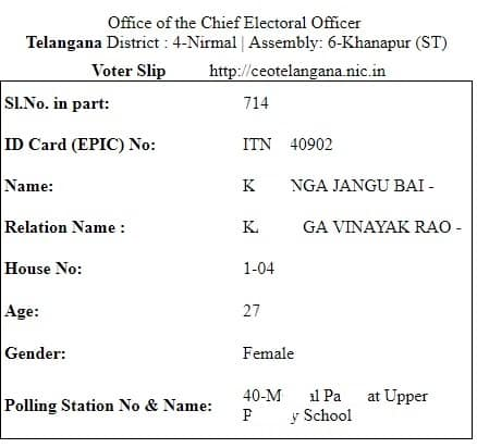 Telangana Voter ID Card Download Online