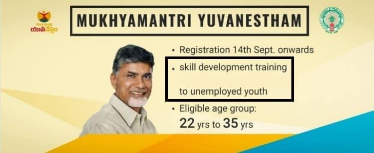 Skill Development Training Program AP Mukhyamantri Yuvanestham Scheme
