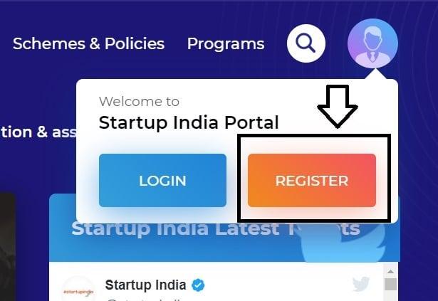 Startup India Scheme Register Apply Online