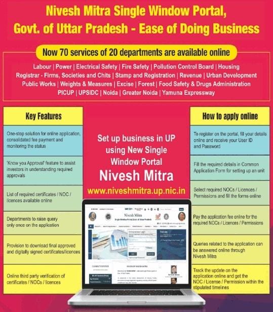 UP Nivesh Mitra Single Window Portal