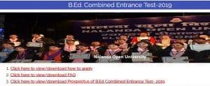 Bihar B.Ed Entrance Exam 2019