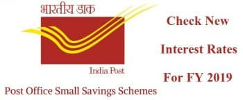 New Interest Rates Post Office Schemes
