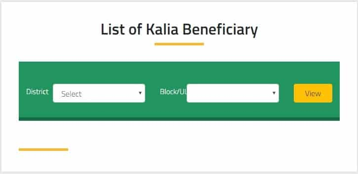 Odisha Kalia Yojana Green Beneficiary List
