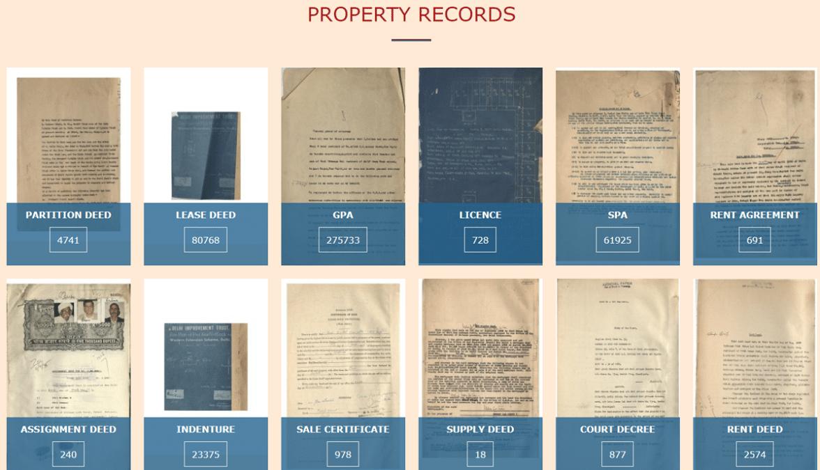 Archives Delhi Gov Abhilekh Property Records