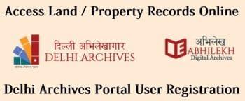 delhi archives portal access land record online