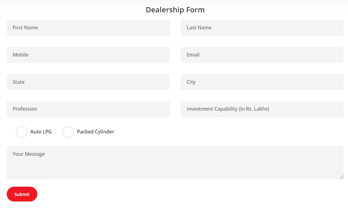 Go Gas Dealership Online Application Form