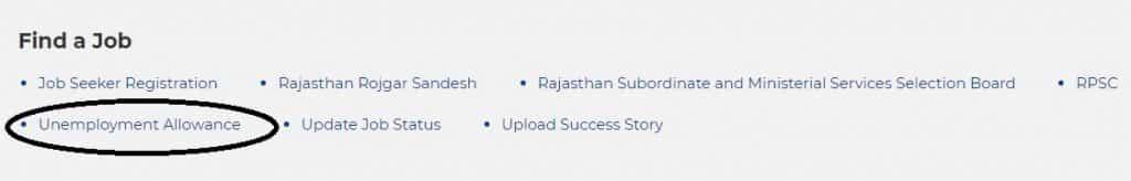 Rajasthan Unemployment Allowance Apply Online