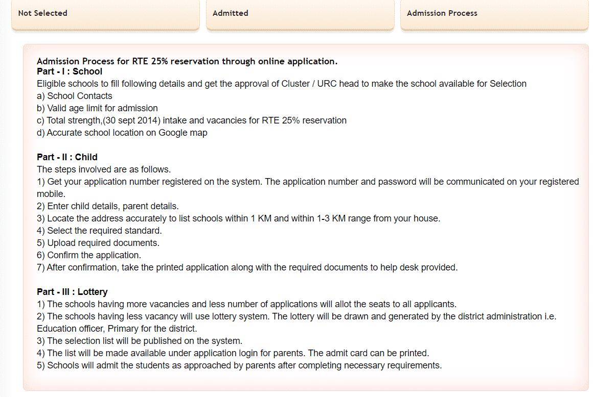RTE Maharashtra 2020-21 Admission Process