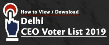 Delhi CEO Voter List 2019