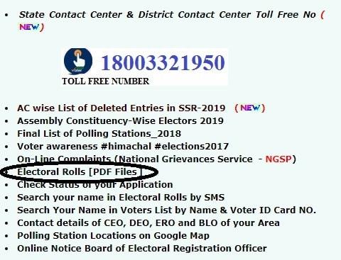 Electoral Voter List Himachal Pradesh