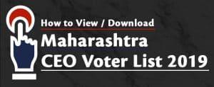 Maharashtra CEO Voter List 2020 (PDF Electoral Rolls) – Voter ID Card Download