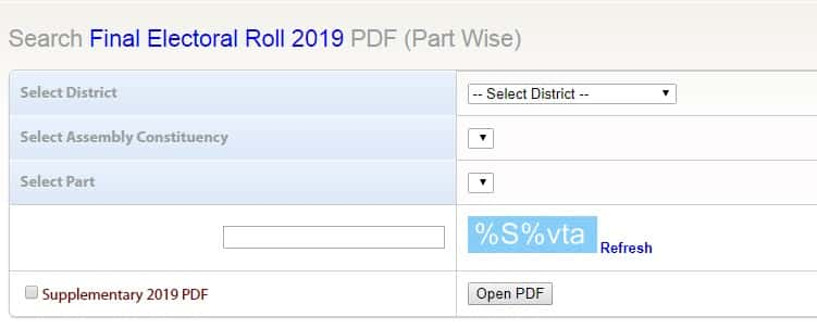 Maharashtra CEO Voter List 2019 District Wise