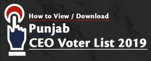 Punjab CEO Voter List 2019