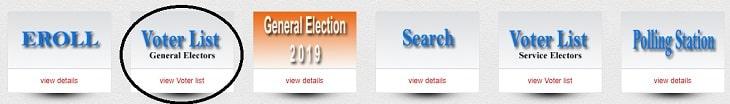View CEO MP Voter List General Electors