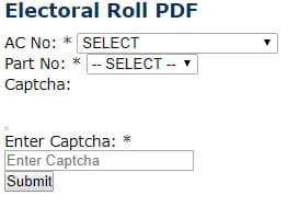 CEO Meghalaya Electoral Roll Detail