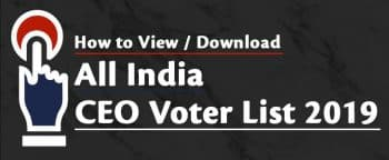 उत्तराखंड वोटर कार्ड लिस्ट 2019 – CEO Uttarakhand Voter ID Card List PDF (District Wise) Search Name