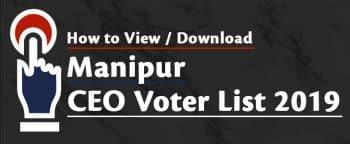 Manipur CEO Voter List 2019