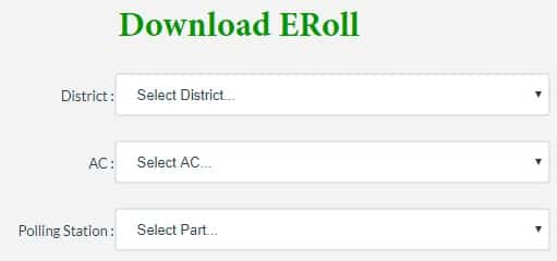 Nagaland CEO Voter List Download