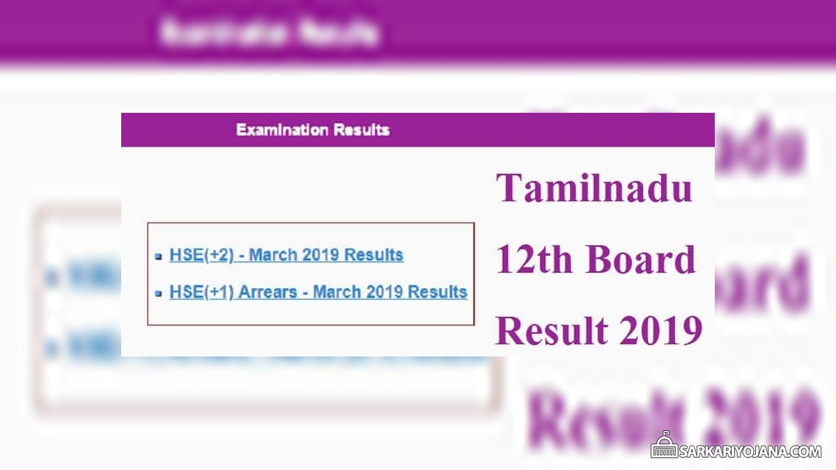 TN 12th Board Result Declared – Check HSE (+2) Results Online @ tnresults.nic.in