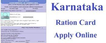 Karnataka Ration Card Apply Online