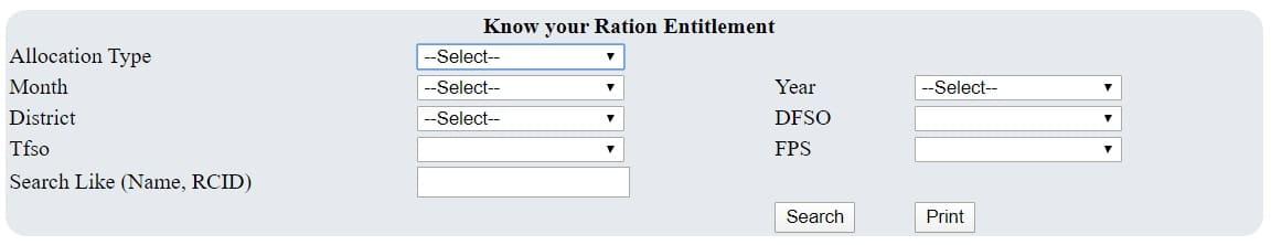 Know your ration entitlement Goa
