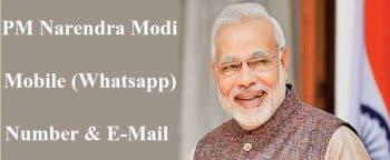 PM Narendra Modi Mobile Whatsapp Number E-Mail Address