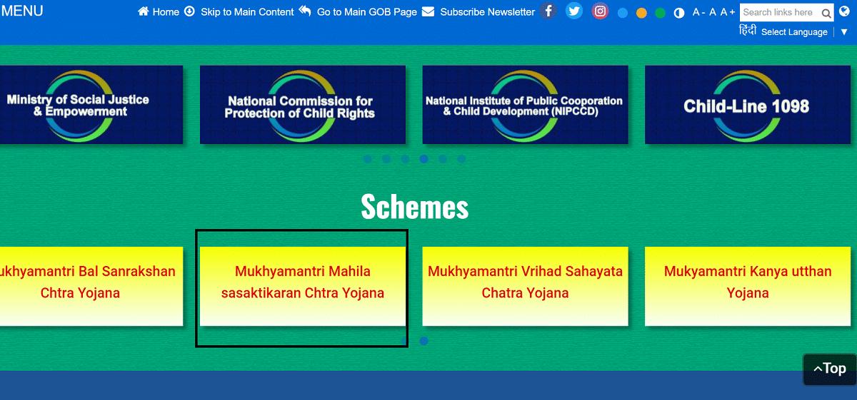 State Bihar Gov Social Welfare Dept Website