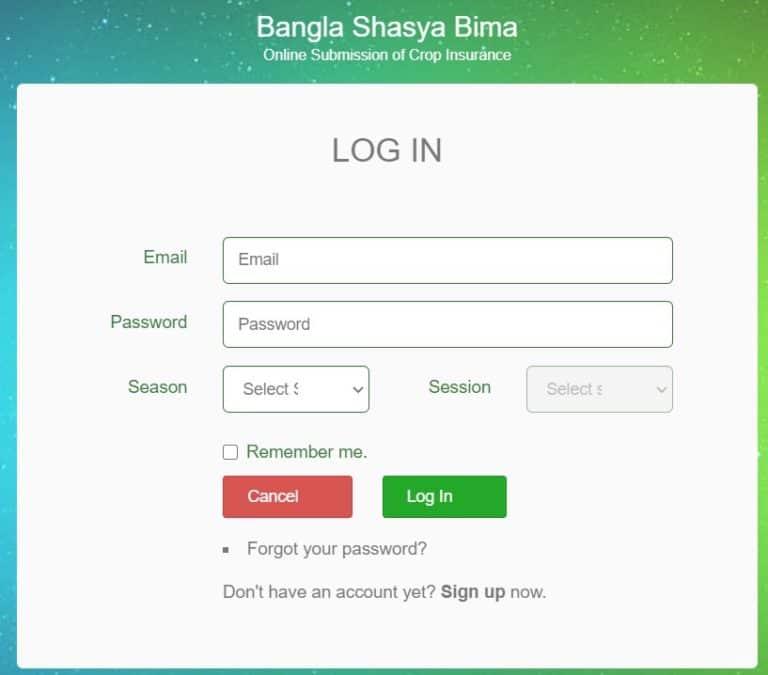 Bungalow Crop Insurance Scheme Login
