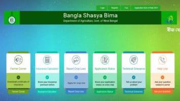 Bangla Shasya Bima Yojana Registration Application Status List