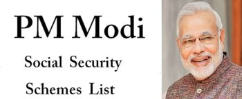 PM Modi Social Security Schemes List