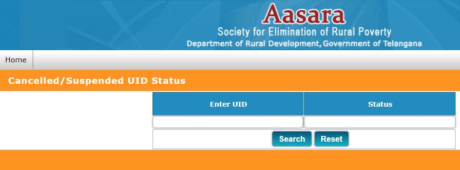 TS Aasara Pension Status With Aadhar Card