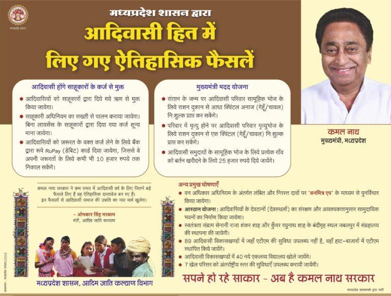 MP Loan Waiver Scheme Tribals Rupay Debit Cards ATM