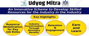 Haryana Udyog Mitra Scheme Training Partner Application Form @ hsdm.org.in