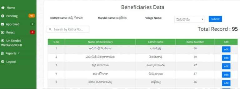 AP YSR Rythu Bharosa List Name Find