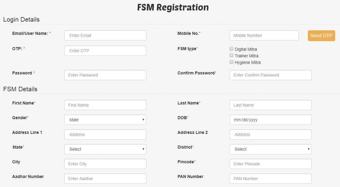 Food Safety Mitra FSM Scheme Registration