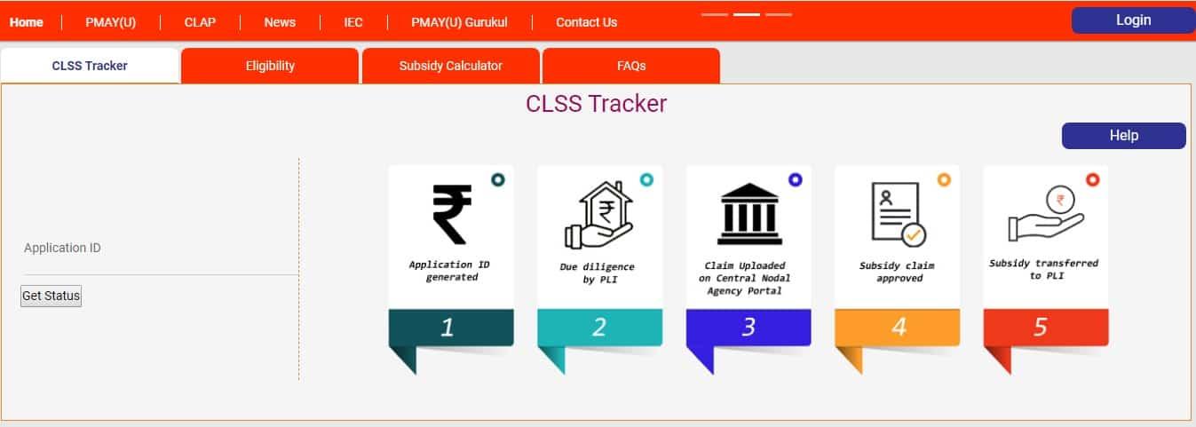 CLSS Tracker CLAP Portal PMAY U