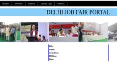 Delhi Job Fair Portal Online Registration Form 2021 (Jobseekers) – Upcoming Rojgar Mela List at jobfair.delhi.gov.in