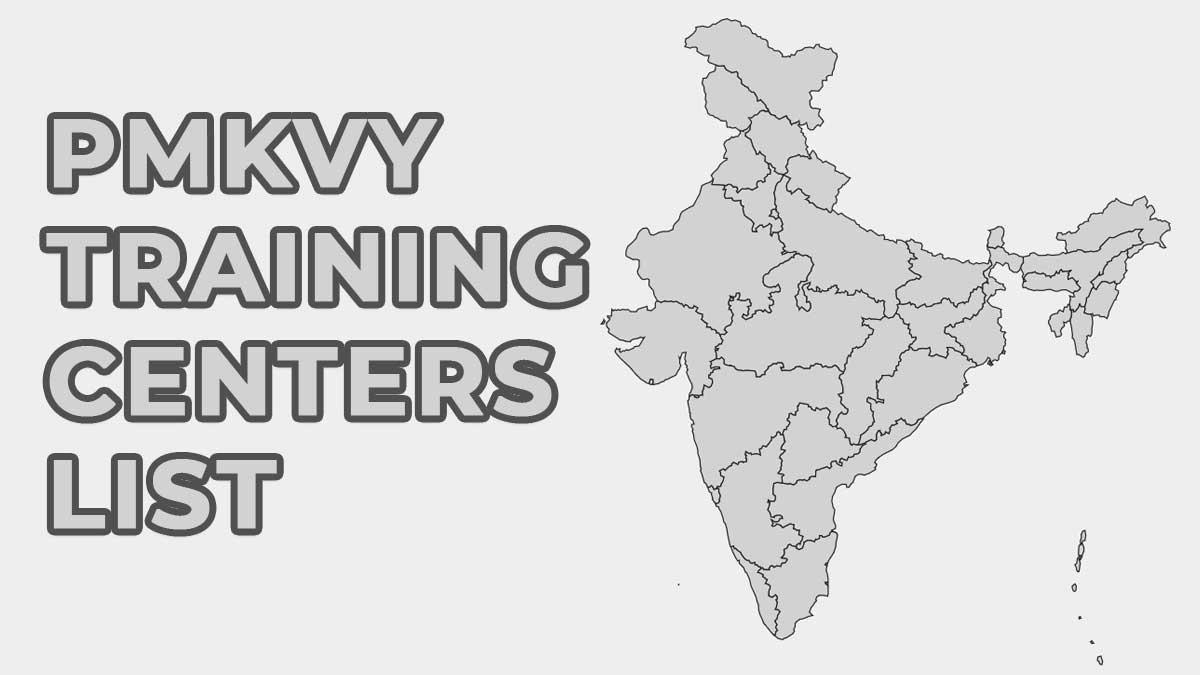 PMKVY Training Centers List