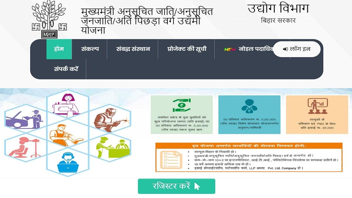Bihar Mukhyamantri EBC Udyami Yojana Apply Online