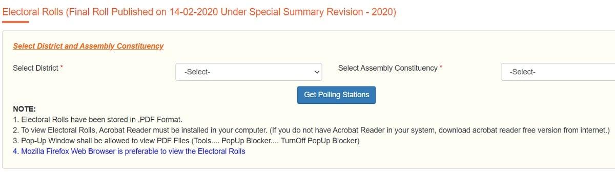 CEO AP Electoral Rolls SSR