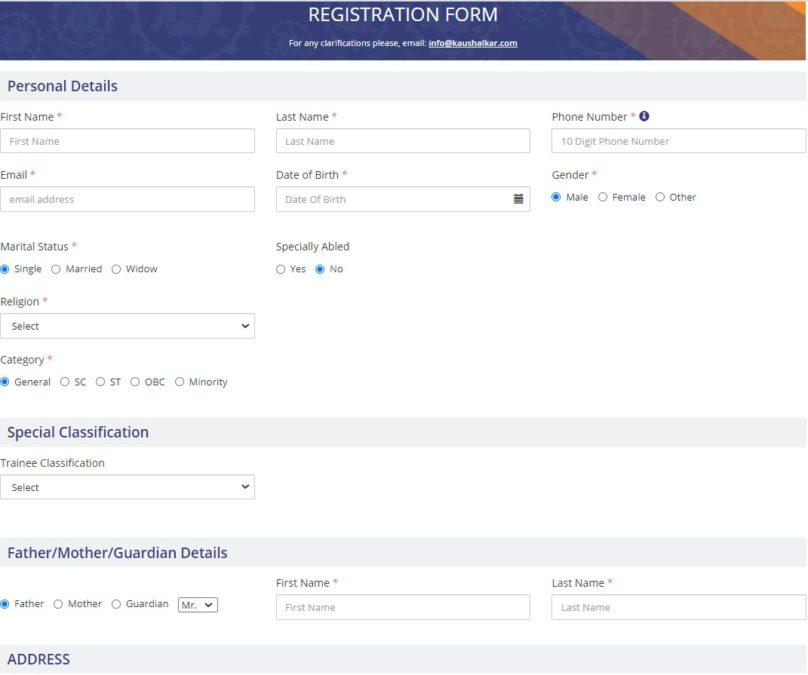 Kaushalya Karnataka Yojana Online Application Form