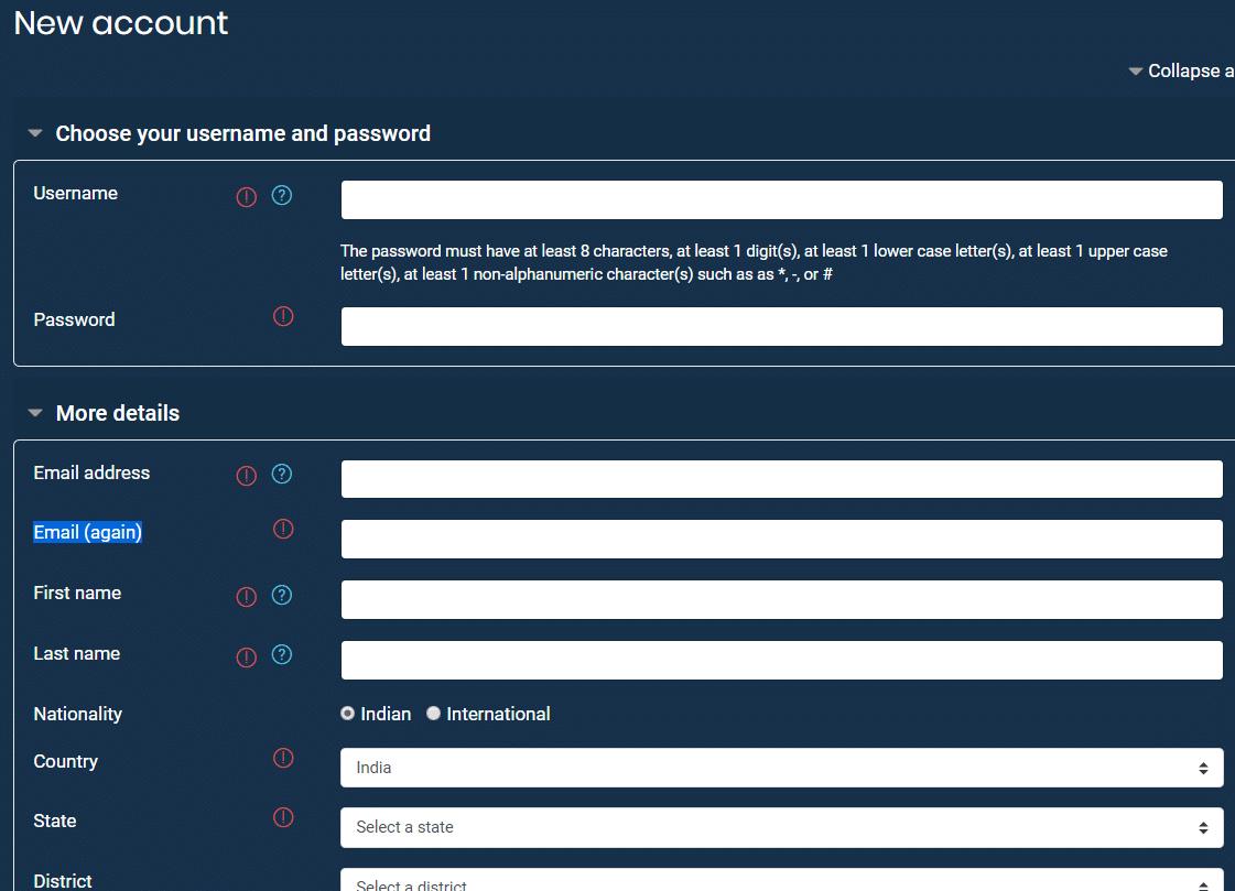 Gram Swaraj Portal Online Course Registration Form