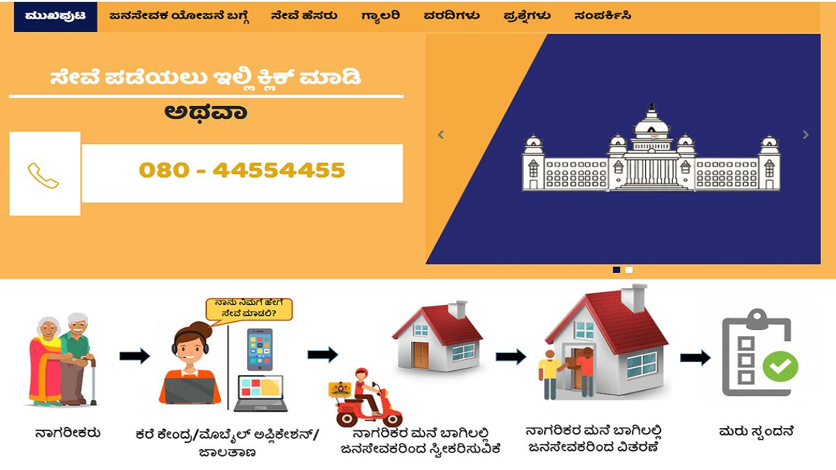 Karnataka Janasevaka Scheme 2020 | Book Your Slot Via Call Center / App / Website | Services List