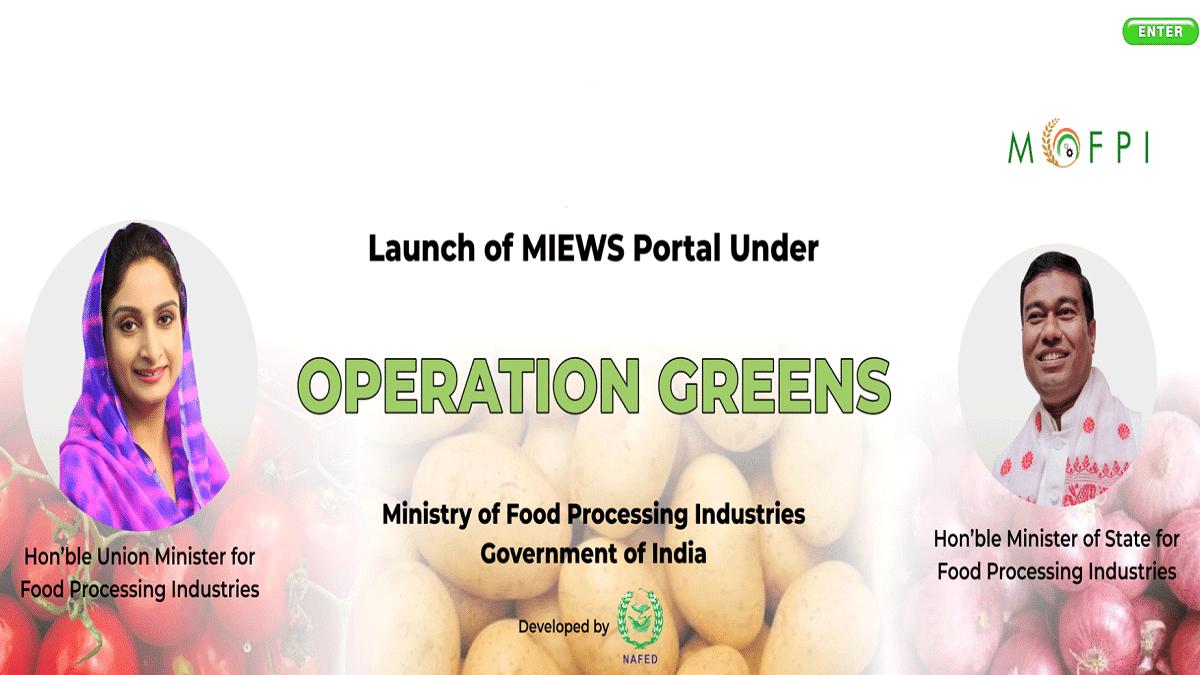Operation Greens Scheme MIEWS Portal TOP Prices