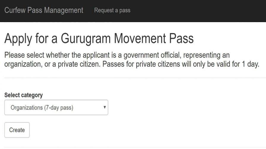 Apply Online for Gurugram Coronavirus Curfew Pass | COVID 19 Lockdown Movement in Gurgaon