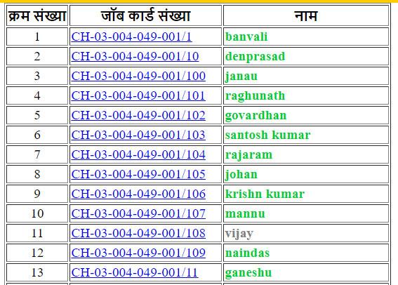 BPL List Based on NREGA