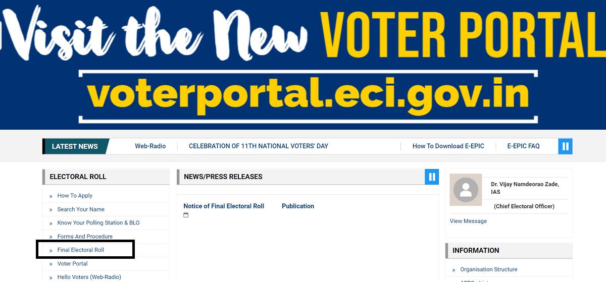 CEO Chandigarh Final Voter List