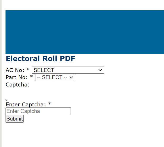 CEO Meghalaya Voter List PDF