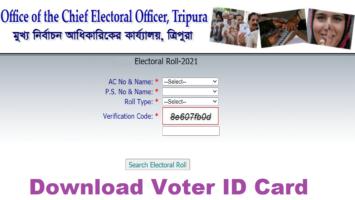 Ceo Tripura Voter List ID Card